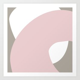 Pink, Taupe + White | Venice Abstract Art Art Print