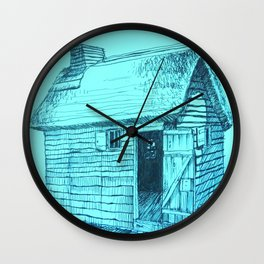 Turquoise New World Wall Clock
