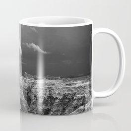 Storm Over The Badlands Black and White Coffee Mug