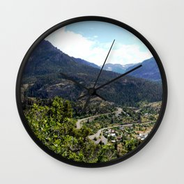 Ouray - At the Mouth of the Uncompahgre Gorge Wall Clock
