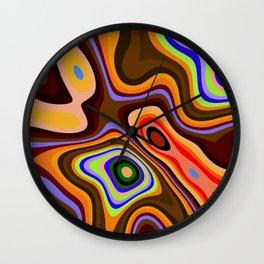 Colourful fluid abstract Wall Clock