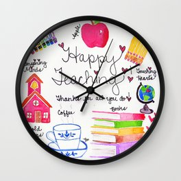 Happy Teaching Wall Clock