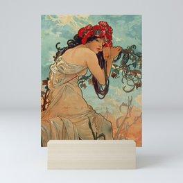 1896 SUMMER - 4 Seasons Alphonse Mucha Art Nouveau Goddess Vintage Lithograph French Mini Art Print