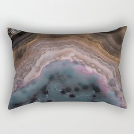 Multi colored agate slice Rectangular Pillow