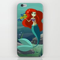 little mermaid iPhone & iPod Skins featuring Little Mermaid by Kaori