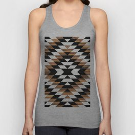 Urban Tribal Pattern No.13 - Aztec - Concrete and Wood Unisex Tank Top