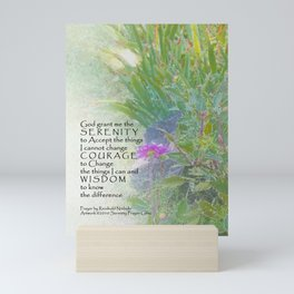 Serenity Prayer Late Summer Garden Mini Art Print