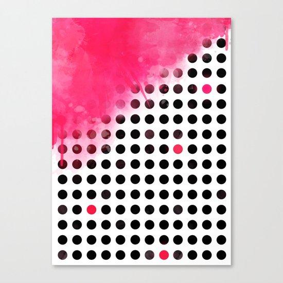 Bold Pink Polka Dots Canvas Print