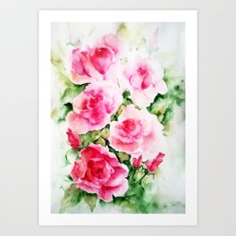Lovely Pink Roses Art Print