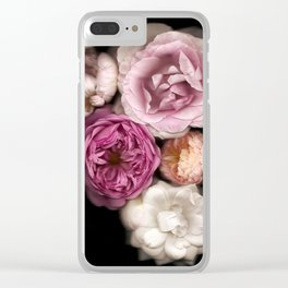 Pink, Purple, and White Roses Clear iPhone Case