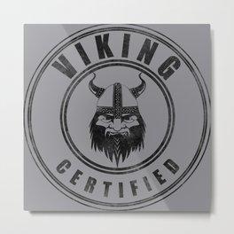 Viking certified - small Metal Print
