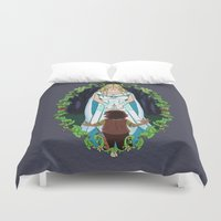 thranduil Duvet Covers featuring The Light of Eärendil by Theresa Lammon