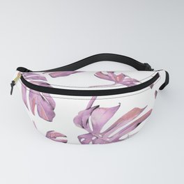 Monstera Pattern Pink #society6 #buyart Fanny Pack