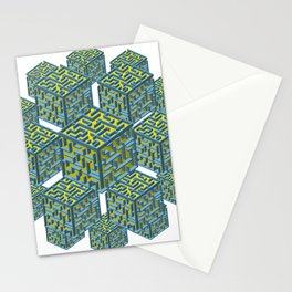 Cubed Mazes Stationery Cards