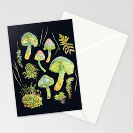Parrot Toadstool and Moss - Dark Stationery Cards
