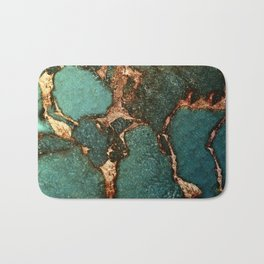 EMERALD AND GOLD Bath Mat