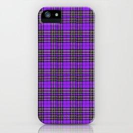 Lunchbox Purple Plaid iPhone Case
