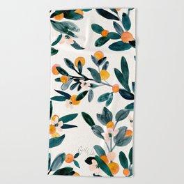 Clementine Sprigs Beach Towel