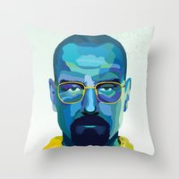 heisenberg Throw Pillows featuring Heisenberg by Ned & Ems