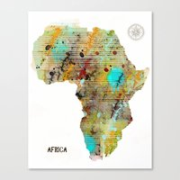 africa Canvas Prints featuring Africa by bri.b