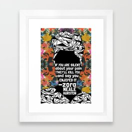 ZNH - If You Are Silent - Black Lives Matter - Series - Black Voices - Floral  Framed Art Print