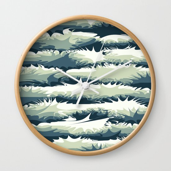 Explosions in the water Wall Clock