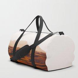 Minimalist Desert Landscape Sand Dunes With Distant Mountains Duffle Bag