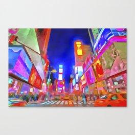 Times Square New York Pop Art Canvas Print