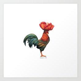 Poppycock 1 Pun Art Print
