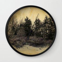 old landscape Wall Clock
