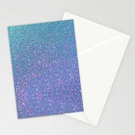 BLUE GLITTER Stationery Cards