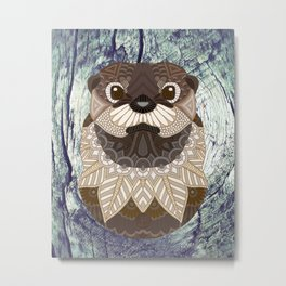 Ornate Otter Metal Print