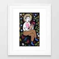 religion Framed Art Prints featuring Religion by grace milk 💐