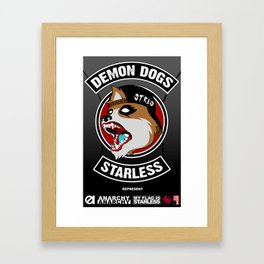 Demon Dogs Biker Brigade Framed Art Print