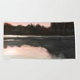 An Evening at the Lake Beach Towel