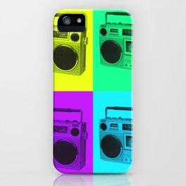 Pop Art Ghetto Blaster iPhone Case