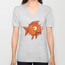 Pufferfish Unisex V-Neck