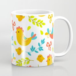 Easter Little Peeps Baby Chicks Pattern Coffee Mug