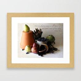 Fruit in Reach Framed Art Print