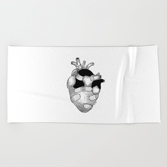 The strongest hearts have the most scars Beach Towel