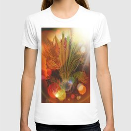 Tropical plants and flowers T-shirt
