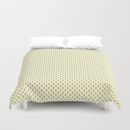 Badger Forest Friends All Over Repeat Pattern on Lemon Yellow Duvet Cover