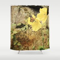 poppies Shower Curtains featuring Poppies by Fine Art by Rina