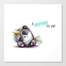 Be anything you want Canvas Print