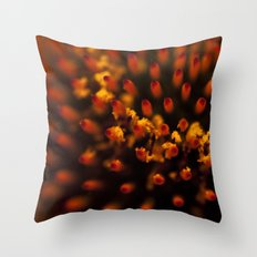 Red Petals with Pollen Throw Pillow