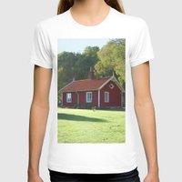 swedish T-shirts featuring Swedish Cottage  by Sarah Osterman