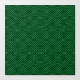 Green Geometric Kaleidoscope Canvas Print