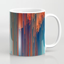 All About Us - Abstract Glitch Pixel Art Coffee Mug