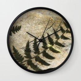 Fern Shadow Wall Clock