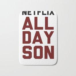 NETFLIX ALL DAY SON T-SHIRT Bath Mat